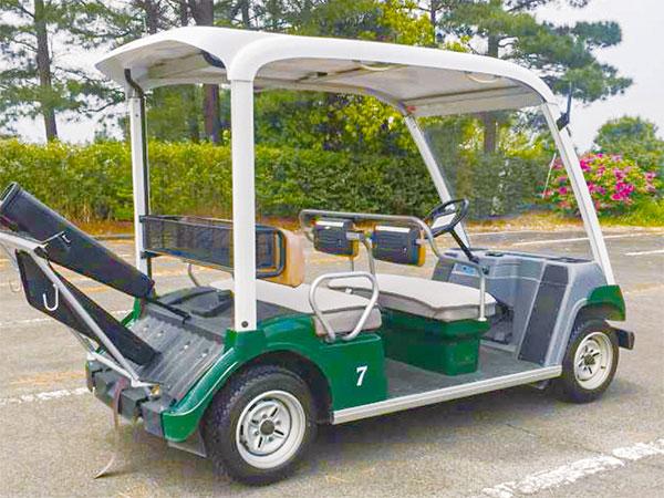 ゴルフカート用フロントシールド 取付例