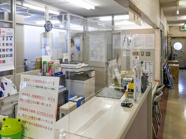 インフェクションガード 導入事例「病院受付」